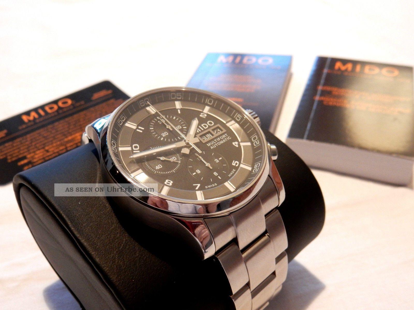 Mido Multifort Chronograph M005.  614.  11.  057.  01 Luxus Uhr Armbanduhren Bild