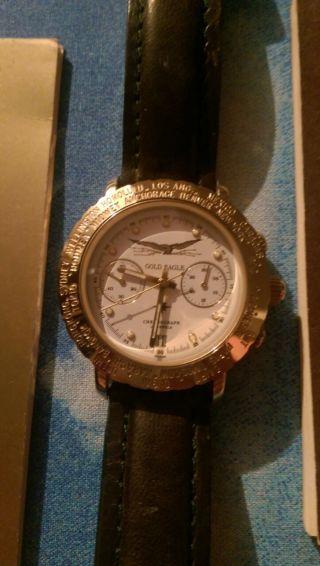 Poljot Gold Eagle Chronograph Russische Uhr / Herrenuhr 102 / 999 Bild