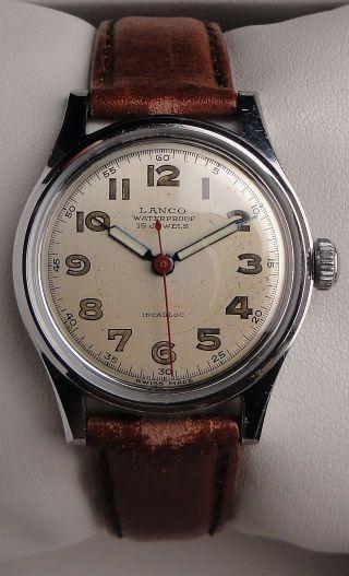 Klassische Vintage Armbanduhr Lanco – Handaufzug – Cal.  Langendorf 1054 Bild