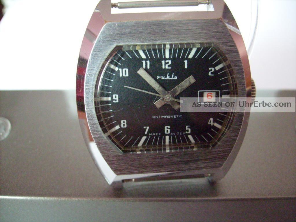 Ruhla Armbanduhr Handaufzug Armbanduhren Bild
