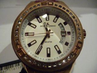 Jacques Lemans Armband Uhr Unisex Miami Analog Quarz Leder 1 - 1776hneu&ungetragen Bild