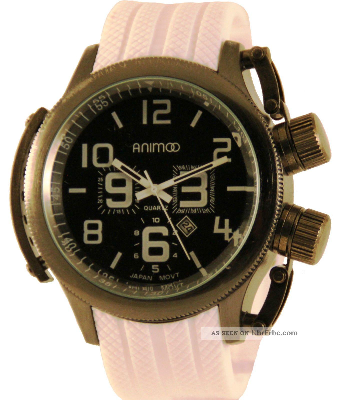 Schwere Animoo U - Boot Uhr Kautschuk Herrenuhr Analog Xxxl Armbanduhren Bild