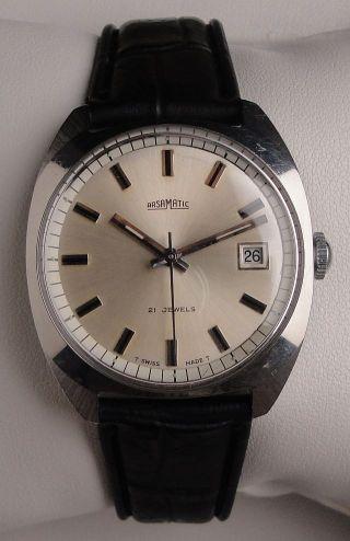 Vintage Armbanduhr Automatic Arsamatic–auguste Reymond In Edelstahl–cal.  Eta 2783 Bild