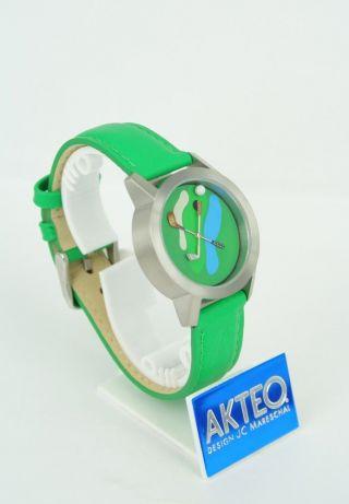 Akteo Uhr - Golf - Serie Sport Quarzwerk Mineralglas Analog Motiv Grün Bild