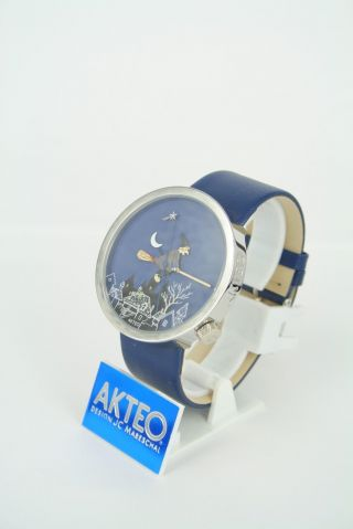 Akteo Uhr - Hexe - Serie Lebensfreude Quarzwerk Mineralglas Analog Edelstahl Blau Bild
