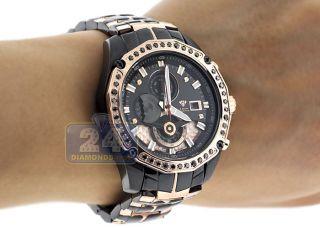 Armbanduhr Aqua Master Chronograph 1.  50 Kt Schwarz Diamant Herren Rose Gold Bild
