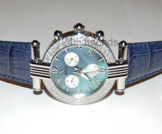 Diamant - Armbanduhr Für Herren Aqua Master Round,  3.  25ct,  Stahl - Leder Armband Bild
