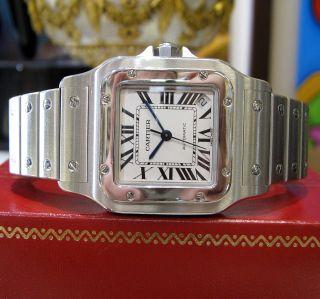 Herren Cartier Santos Galbee Xl Ref.  2823 Edelstahl Automatik Uhr Bild