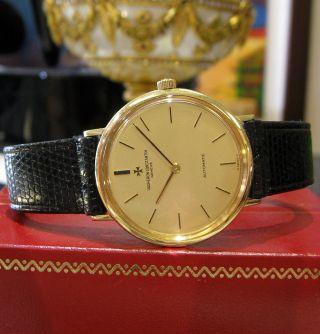 Herren Jahrgang Vacheron Constantin 18k Gelbgold Automatische Dress Uhr Bild