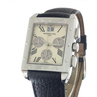 Raymond Weil Tango Big Date Ref 4881 Chronograph With Invoice Bild
