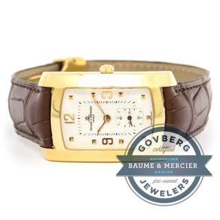Baume Et Mercier Armbanduhr 18 Karat Gold Quartz Silber Zifferblatt Mv045224 Bild