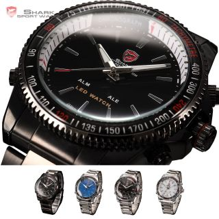 Shark Led Digital Sportuhr Quarzuhr Herrenuhr Armbanduhr Herren Uhr 4 Farben U Bild