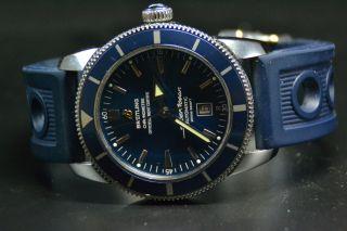 Breitling Superocean Heritage 46 Blau Automatik Chronograph Herrenuhr Bild