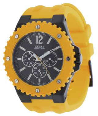 Guess Herren Armbanduhr Overdrive Gelb W11619g5 Bild