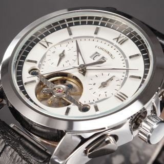 D Forsining Herren Automatikuhr Mechanisch Kunstleder Armband Uhr 6 Modelle Bild