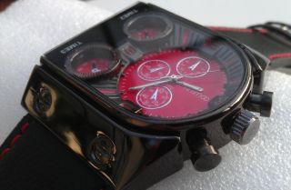 Herrenuhr Xxl Leder Fliegeruhr Armbanduhr Animoo Uhr Bild