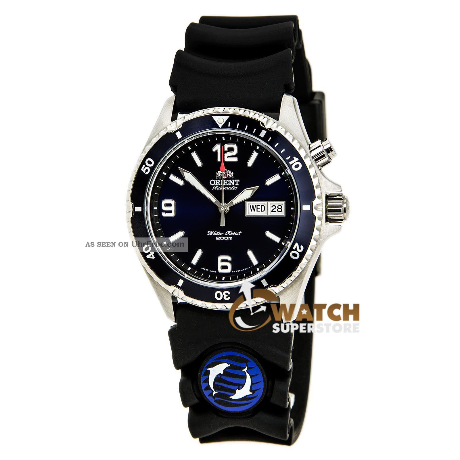 Taucheruhr Herren Orient Cem65005d Blau Mako Gummiband & Zifferblatt Automatisch Armbanduhren Bild