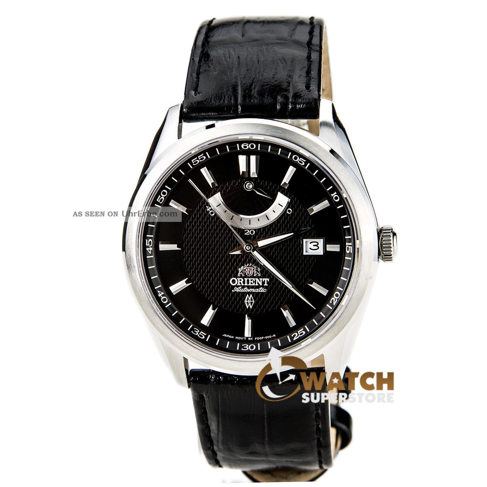 Herren Armbanduhr Orient Ffd0f002b Schwarzes Leder Armband Automatisch Vintage Armbanduhren Bild