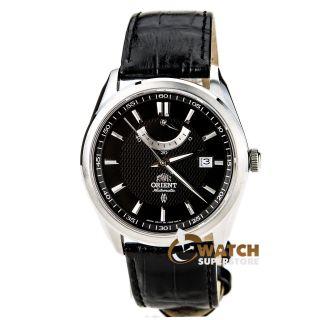 Herren Armbanduhr Orient Ffd0f002b Schwarzes Leder Armband Automatisch Vintage Bild