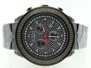 Armbanduhr Herren Joe Rodeo/ Jojino/ Jojo Schwarz Platin 2 Reihen Gelb Diamant Bild