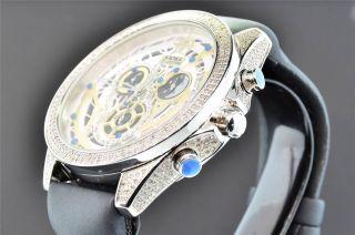 Artica Diamant - Uhr Herren - Weiß & Gold Zifferblatt 2 Zeilen Lünette 3,  5 Ct Datum Bild
