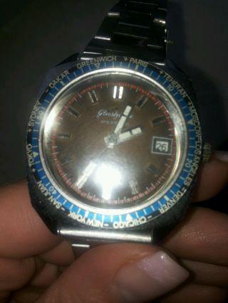 Glashütte Spezimatic Worldtimer Automatic - 70 Er Uhr Bild