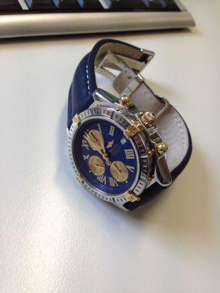 Orig.  Breitling Crosswind,  B13355,  43mm,  Stahl/gold,  Chronometer Bild