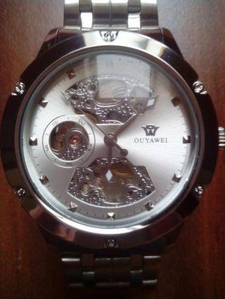 Uhr,  Edelstahl