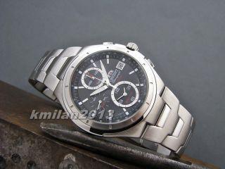 Orient Sporty Edelstahl Uhr Chronograph Herrenuhr Alarm,  Japan Ctd0h002b0 Bild
