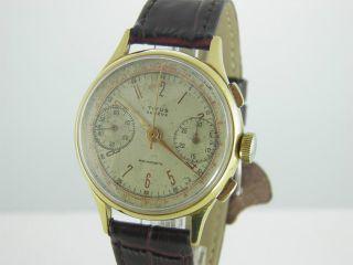 Titus Geneve Vintage Chronograph Landeron 39 1940 ' S 36 Mm Bild
