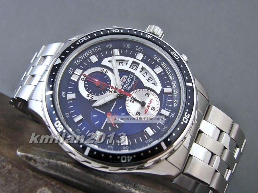 Orient Taucher Uhr Chronograph,  Herrenuhr Wr: 200 M Ftt0q002d0,  Ftt0q001w0 Armbanduhren Bild