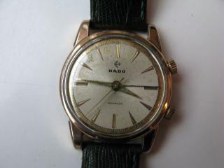 Rado Double Wecker Herren Armbanduhr Aus 50er Jahre Armband Uhr Bild