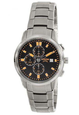 Boccia Titanium Chronograph Herren Uhr Chrono 3763 - 03 Bild
