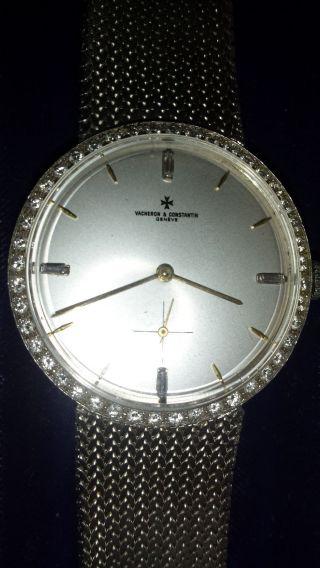 Vacheron & Constantin Herrenarmbanduhr 750er Weißgold,  Handaufzug Bild