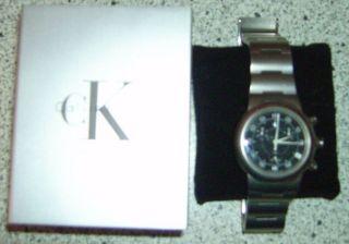 Calvin Klein Herrenuhr Silber/ Edelstahl Mit Box L40 Mm Made Swiss Bild
