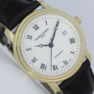Frederique Constant Classics Automatic Ø 40mm Gold Plated Uhr Ref.  Fc - 303mc4p5 Bild