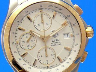 Tag Heuer Link Automatik Chronograph Stahl/gold Vom Uhrencenter Berlin Bild