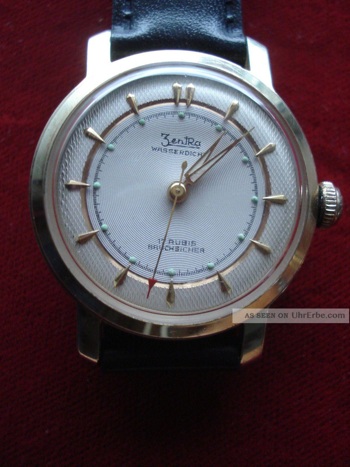 Herrenarmbanduhr,  Zentra Handaufzug Eta 1080, Armbanduhren Bild