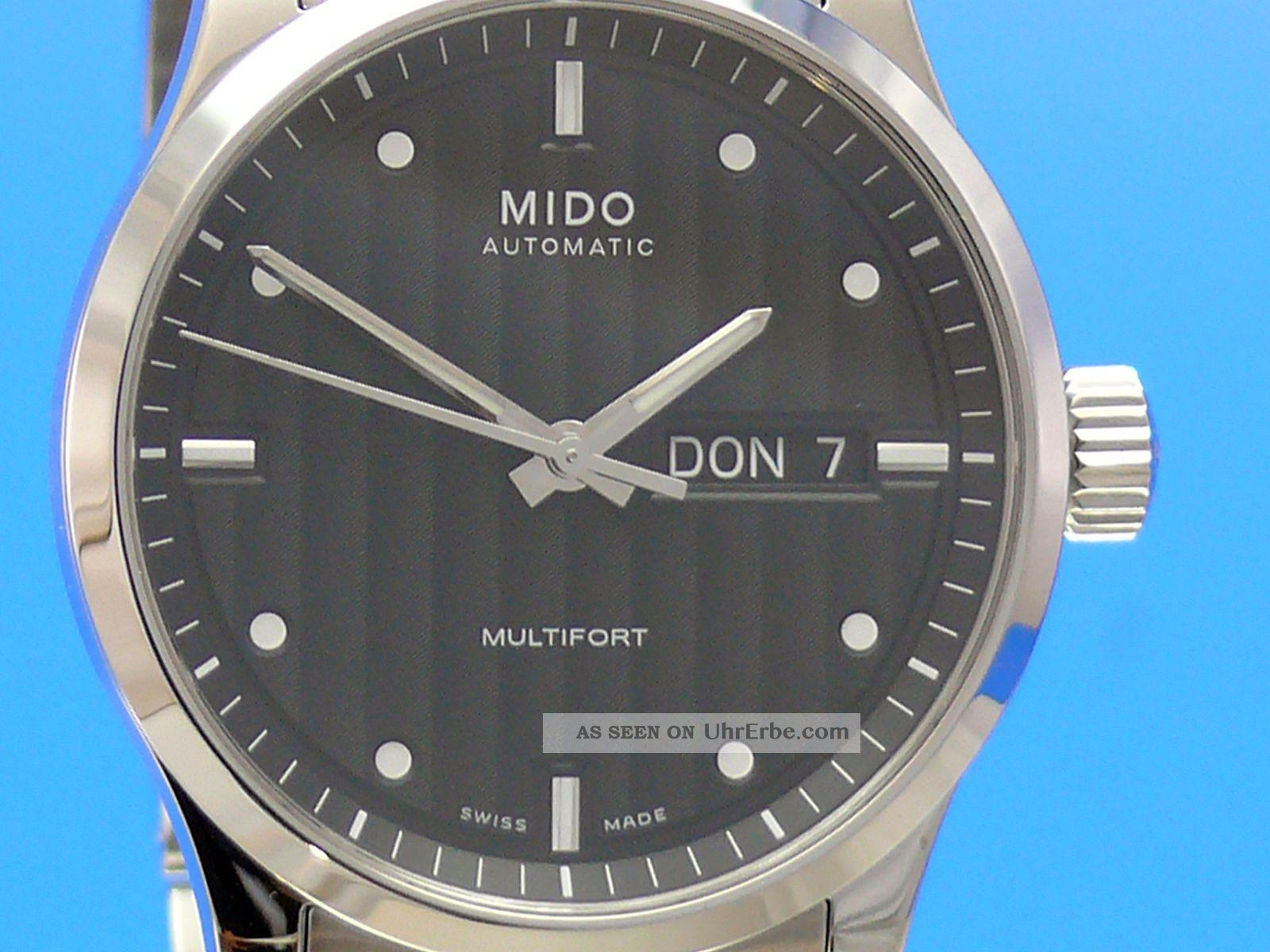 Mido Multifort Herrenuhr Automatik 38mm M0058301105100 Armbanduhren Bild