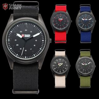 Shark Army Sportuhr Militär Herrenuhr Quarzuhr Canvas Nylon Armband Herren Uhr Bild