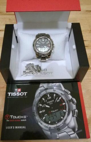 Tissot T - Touch Ii Titanium T0134204420200 Titan Armbanduhr Für Herren Bild