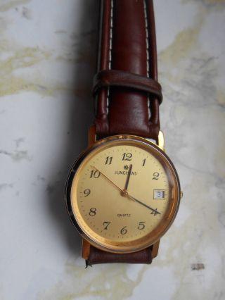 Herren Armbanduhr Uhr Junghans Quarz Edelstahl Bild