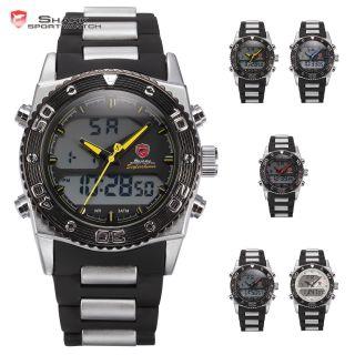 D Shark Herrenuhr Sportlich Quarzuhr Gummi Digital Analog Armbanduhr 5 Farben Bild