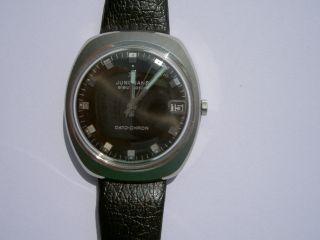 Herren Armbanduhr Junghans Electronic Dato - Chron,  70er Jahre,  Neuwertig Bild