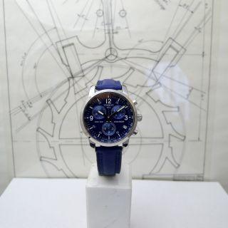 Schöner Tissot Chronograph Prc 200 Ref.  T 461 Stahl Leder Bild