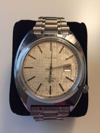 Ruhla Quarz Analog Uhr Ddr,  Modell 32768,  Nos,  Hau,  Kein Lcd,  Ungetragen,  Vintage Bild