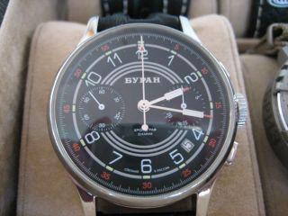 Buran Strela Poljot 3133 Handaufzug Fliegerchronograph Uhr Chronograph Selten Bild