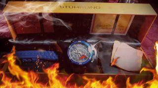 Heiss Stührling Xtreme Herren Quarz Chronograph Selten Bild