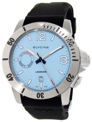 Glycine Lagunare Automatik L1000 Steel Herrenuhr Taucheruhr Blau Zifferblatt Bild