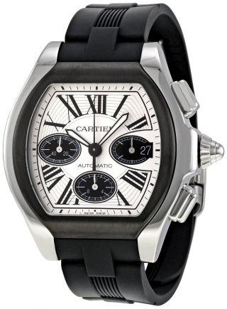 Cartier W6206020 Roadster Schwarz Gummi Armbanduhr Herren Chrono Automatisch Bild